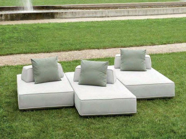 Fabric garden sofa with removable cover STAGE | Garden sofa by H&Co