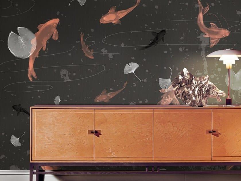 Ecological washable PVC free wallpaper STAGNO DEL MONDO FLUTTUANTE by Wallpepper