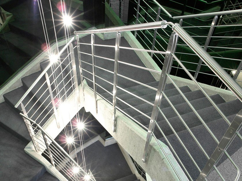 Stainless steel Stair railing Stainless steel balustrade by Officine Sandrini