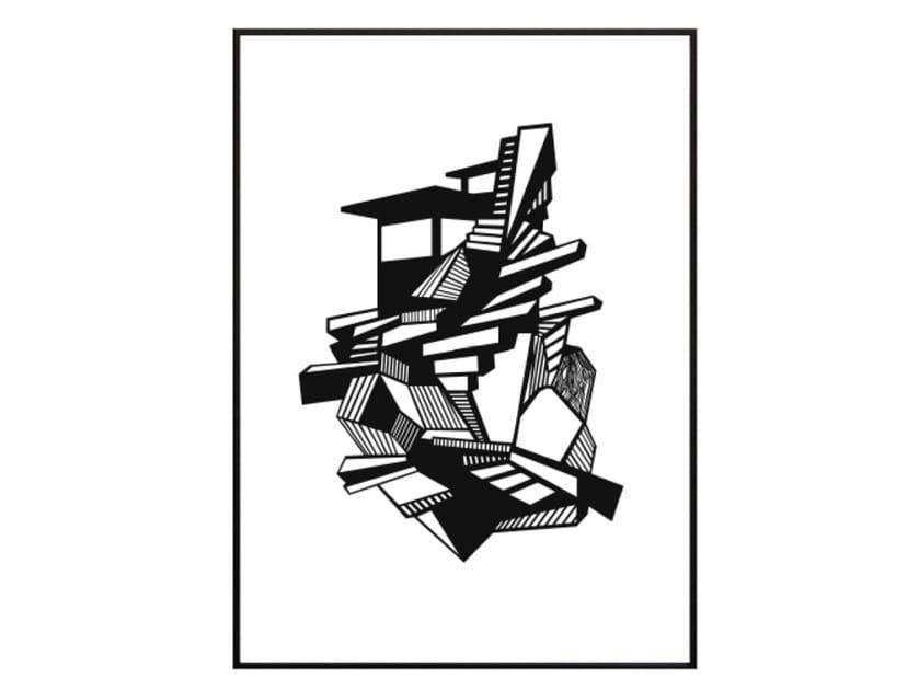 Stampa su carta STAIR HOUSE by Kristina Dam Studio