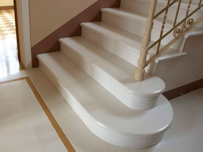 Marble grit staircase cladding SCALA COSTA A TORO by Mipa