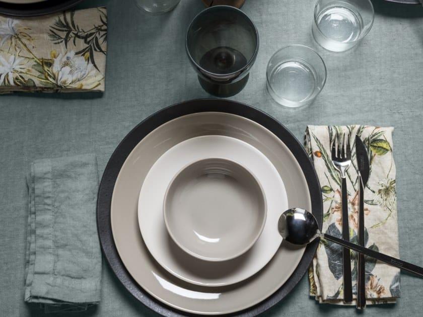Linen napkin STAMPA ERBARIO | Napkin by LA FABBRICA DEL LINO