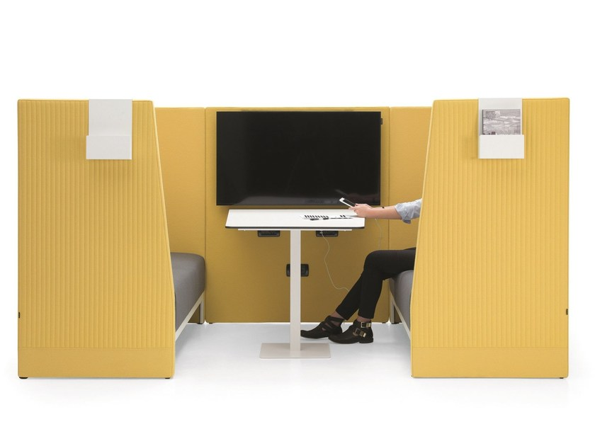 Acoustic fabric office booth STAND BY | Office booth by Emmegi