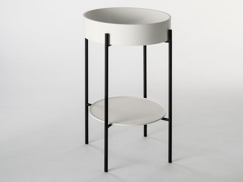 Console round Livingtec® washbasin STAND | Console washbasin by Ex.t