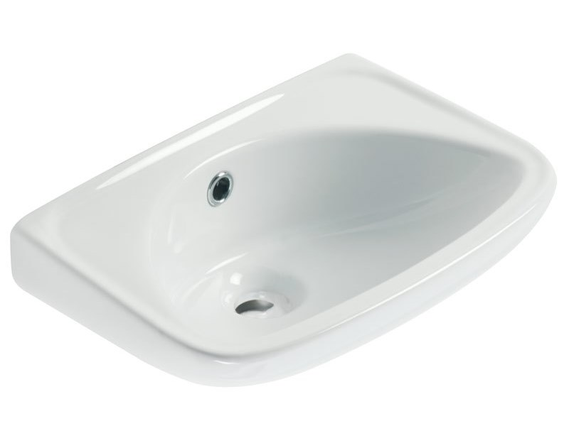 Oval wall-mounted porcelain washbasin STANDARD | Wall-mounted washbasin by Ponte Giulio