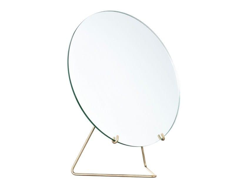 accessories com vanity mirror shop bathroom pl lowes mirrors countertop hardware mirrored allen metal bronze brinkley at glass roth countertops makeup