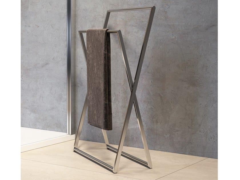 Standing stainless steel towel rack Standing towel rack by NOVELLINI