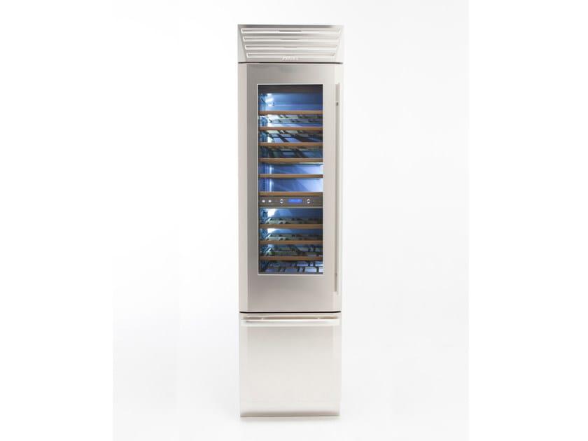 Wine cooler with glass door with built-in lights STANDPLUS 60   Wine cooler by FHIABA