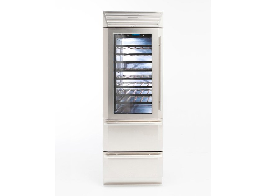Wine cooler with glass door with built-in lights STANDPLUS 75 | Wine cooler by FHIABA