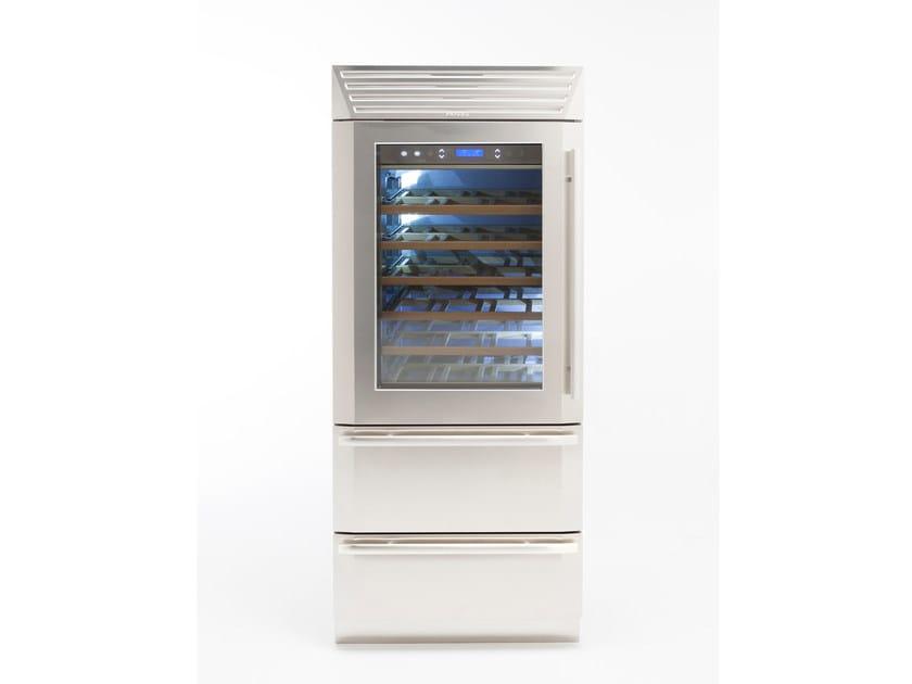 Wine cooler with glass door with built-in lights STANDPLUS 90   Wine cooler by FHIABA