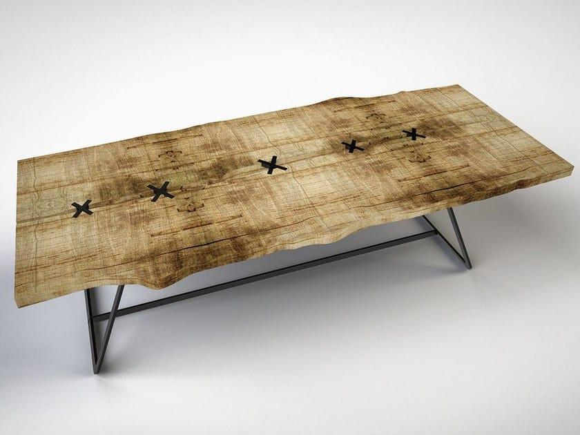 Rectangular cedarwood table STAR CROSSED LOVERS by IronWoods