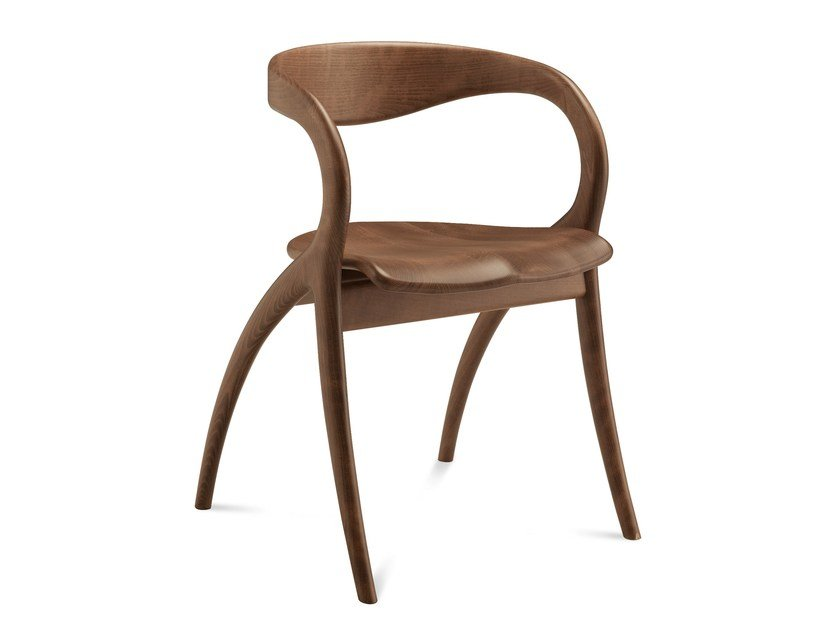 Wooden chair with armrests STAR by DOMITALIA