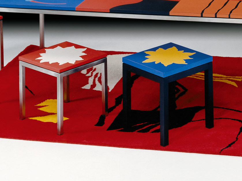 Lacquered laminate stool STAR by Mirabili