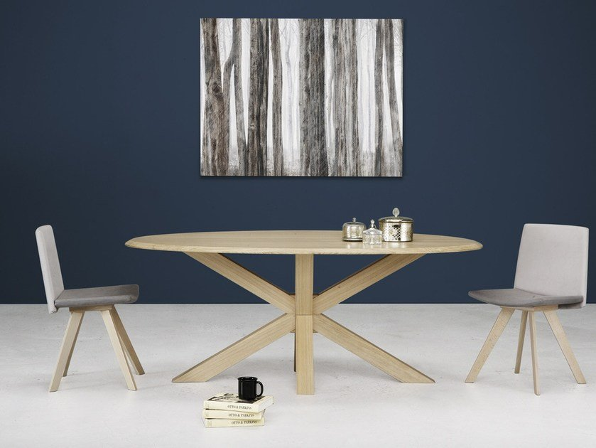 Oval wooden table STAR | Oval table by Natisa