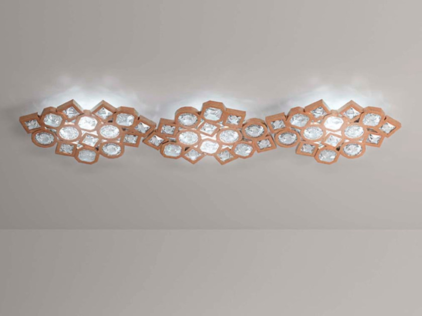 LED metal ceiling lamp with crystals STARDUST | Ceiling lamp by Marchetti