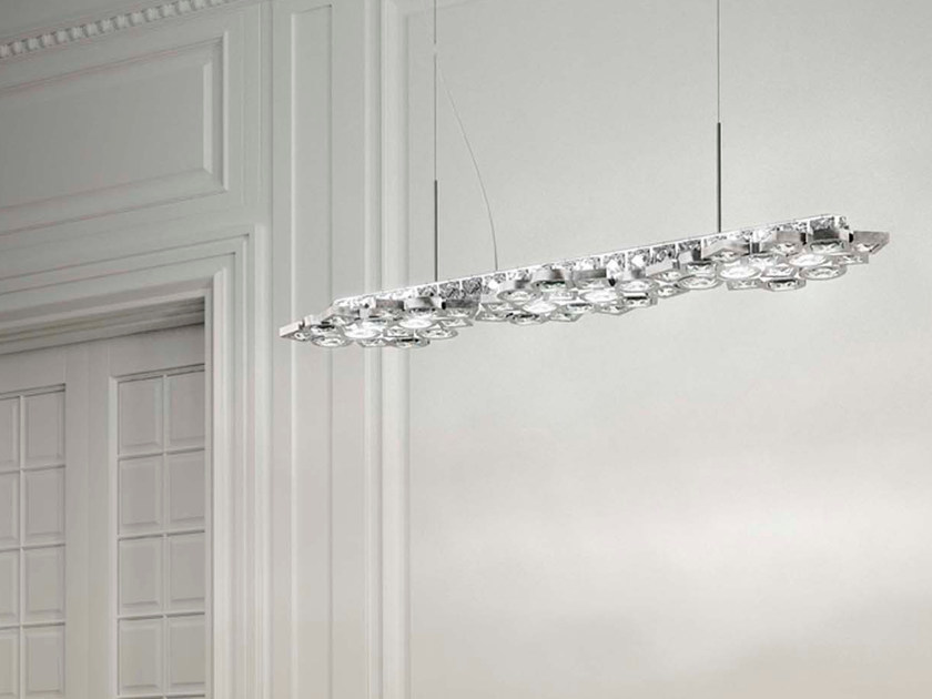 LED metal pendant lamp with crystals STARDUST | Pendant lamp by Marchetti