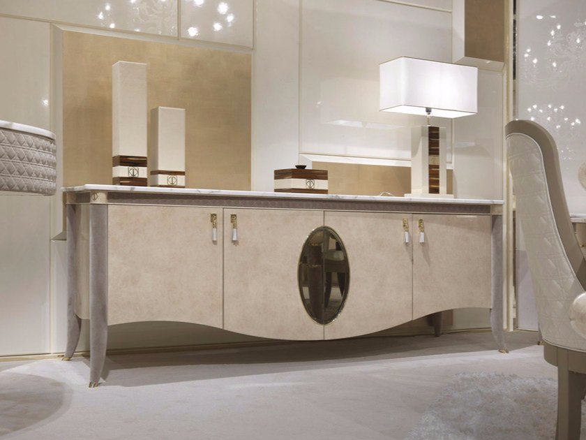 Lacquered sideboard with doors CARACTERE | Sideboard by Turri