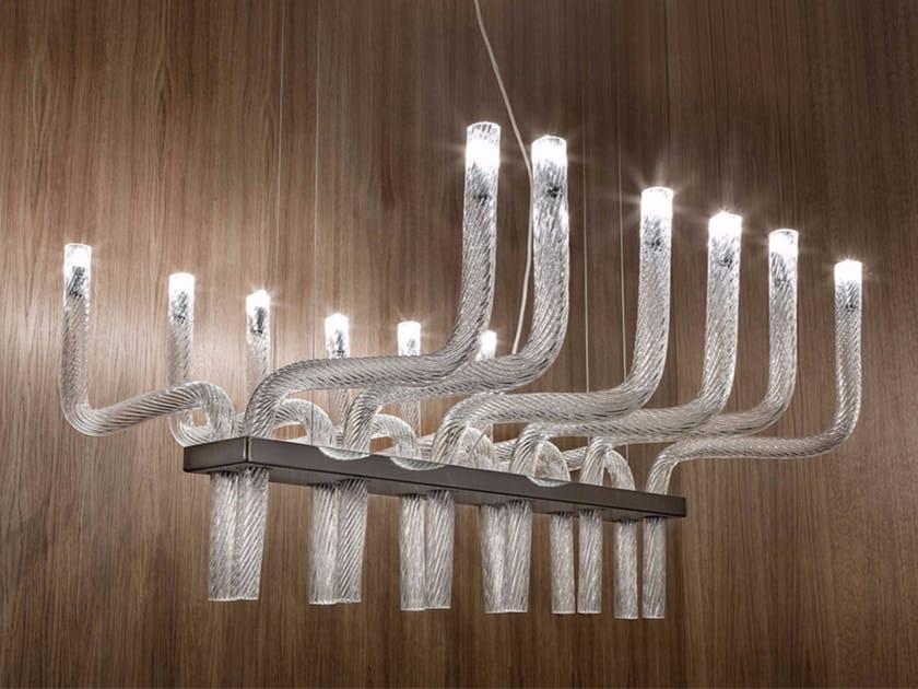 Blown glass pendant lamp STARDUST SP R by Vetreria Vistosi