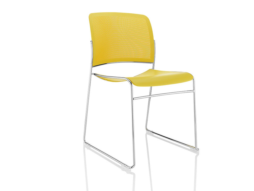 Sled base stackable plastic chair STARR   Chair by Boss Design