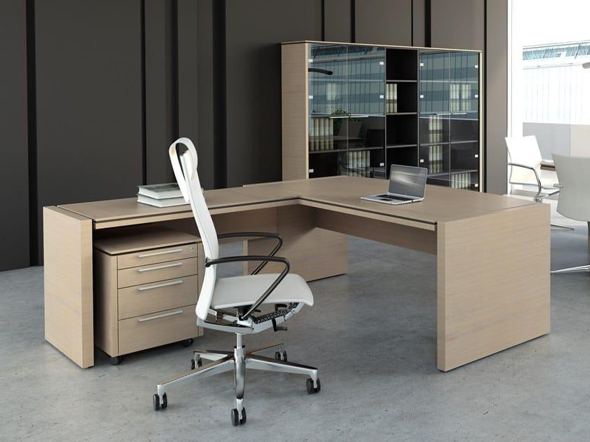 L-shaped melamine-faced chipboard office desk STATUS   L-shaped office desk by MDD