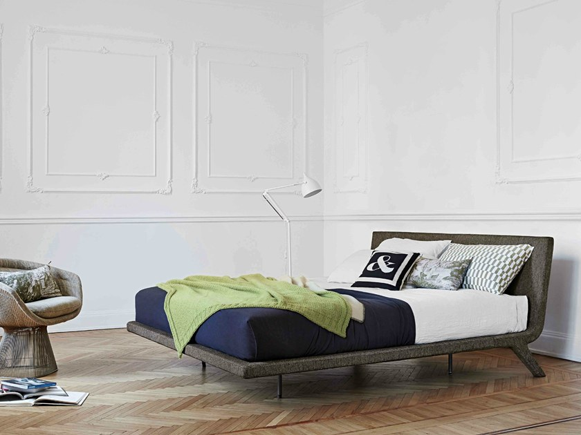 Upholstered double bed STEALTH by Bonaldo