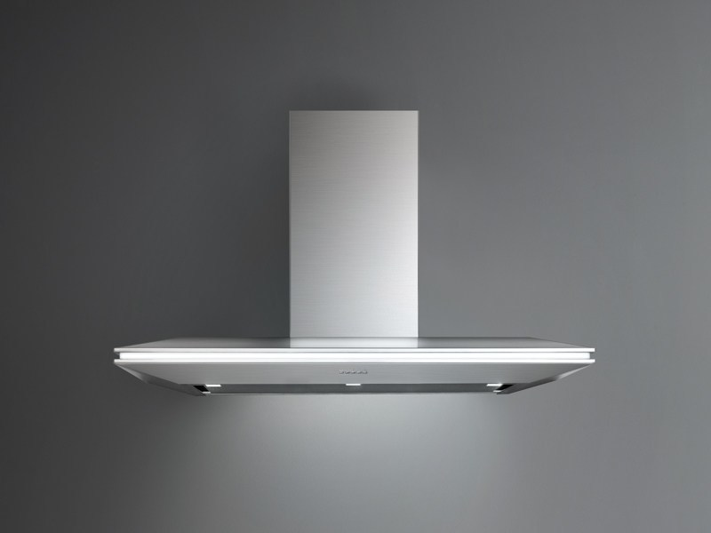 Wall-mounted stainless steel cooker hood with integrated lighting STEALTH by Falmec