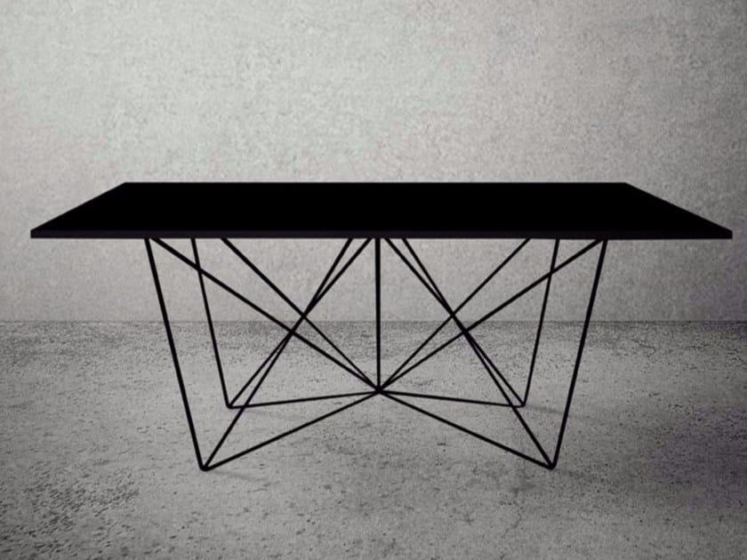 Rectangular steel table STEEL FRAME | Rectangular table by Baltic Promo