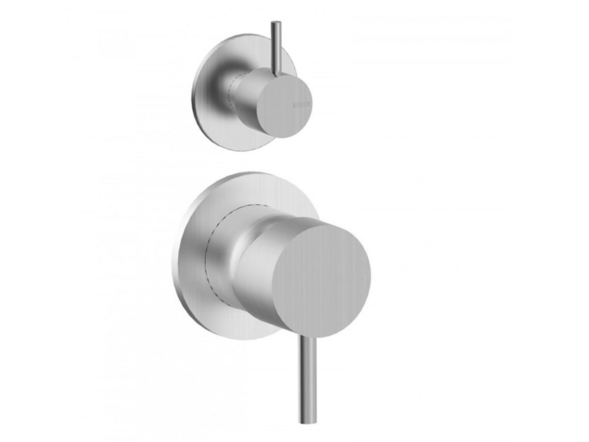 Recessed shower mixer with diverter STEEL | Shower mixer with diverter by BIANCHI RUBINETTERIE