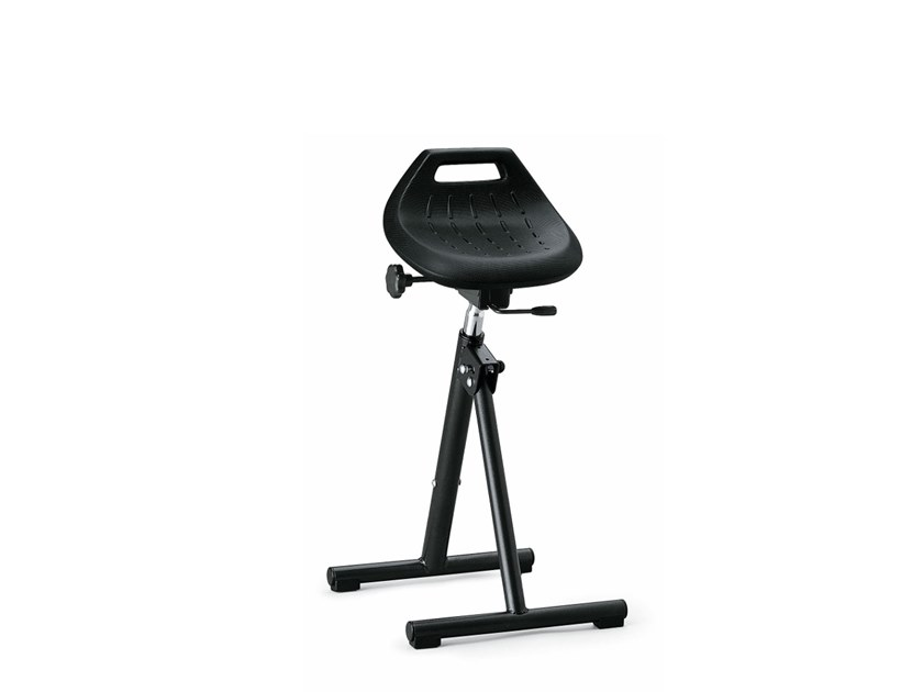 Collapsible  laboratory stool STANDING REST 9452 by bimos
