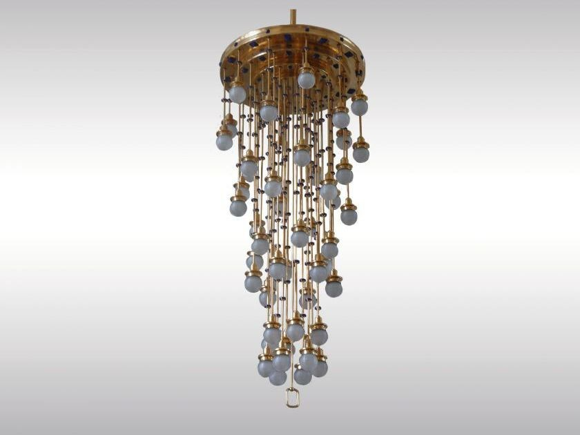 Lampada a sospensione in ottone in stile classico STEINHOF 36FL by Woka Lamps Vienna