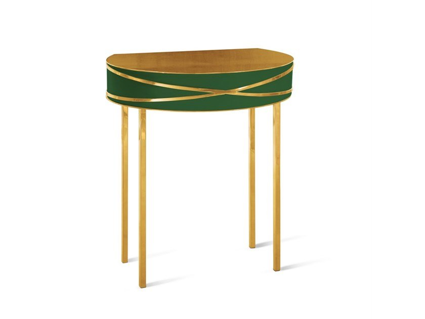 Demilune lacquered console table STELLA | Console table by Scarlet Splendour