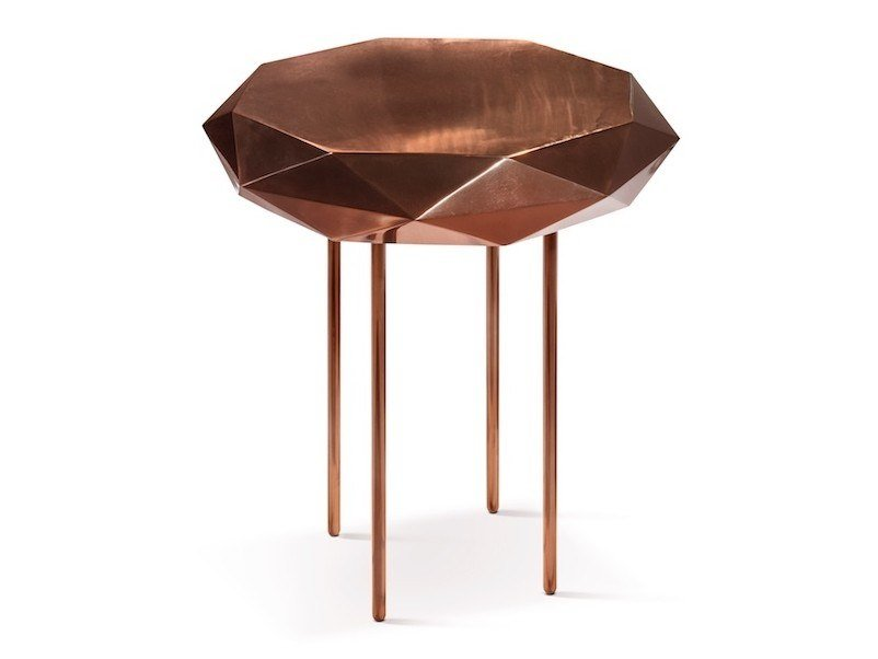 Octagonal metal high side table STELLA | High side table by Scarlet Splendour