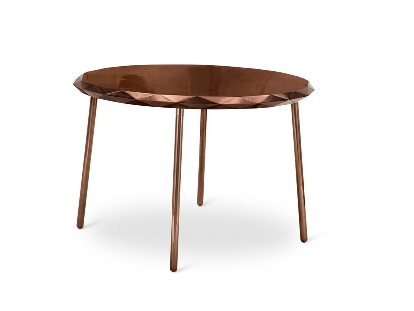 Round metal table STELLA | Table by Scarlet Splendour