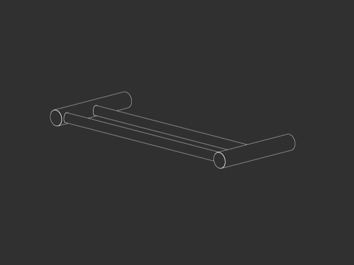 Stainless steel towel rail STEM 20 by Ceadesign