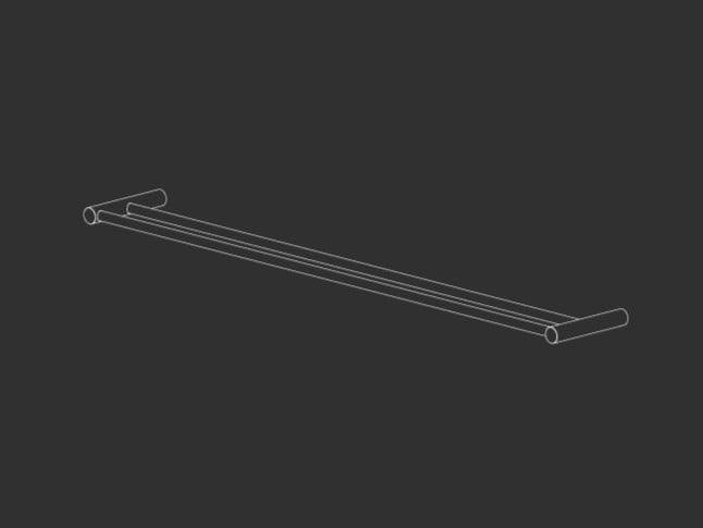Stainless steel towel rail STEM 23 by Ceadesign