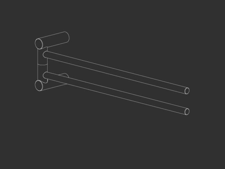 Swivel stainless steel towel rack STEM 24 by Ceadesign