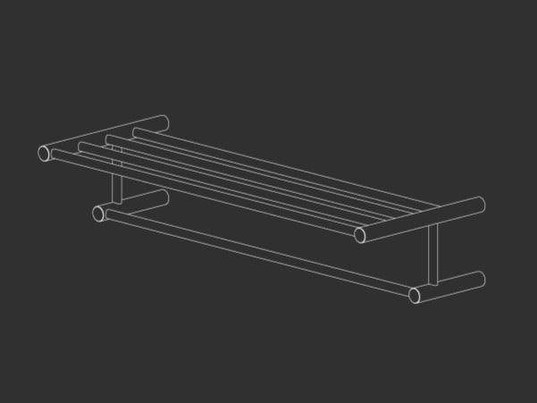 Stainless steel towel rail STEM 27 by Ceadesign
