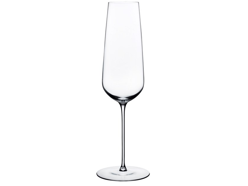 Crystal champagne glass STEM ZERO CHAMPAGNE by NUDE