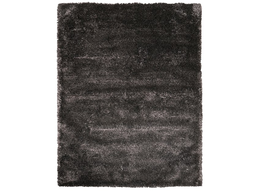 Handmade rectangular rug STEP BLACK SILVER by EBRU