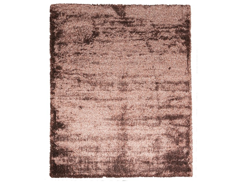 Handmade rectangular rug STEP CHOCOLATE MIX by EBRU