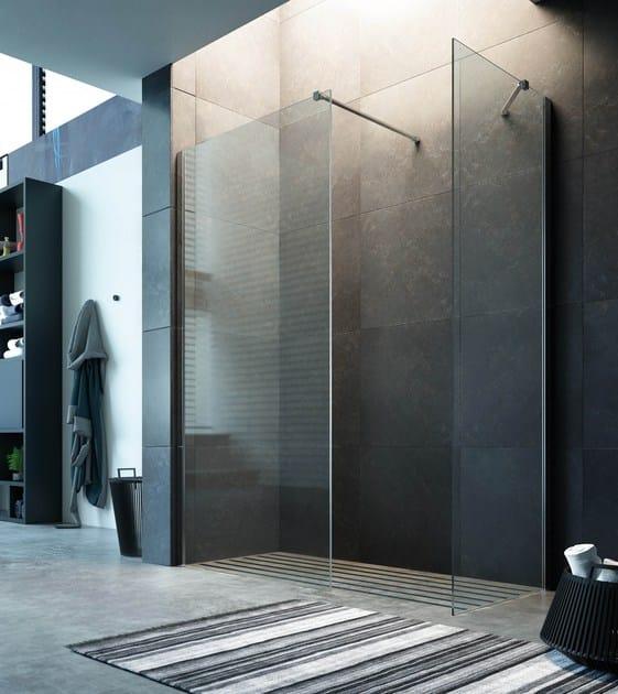 Corner crystal shower cabin STEP IN GK0 + GK2 by Glass1989