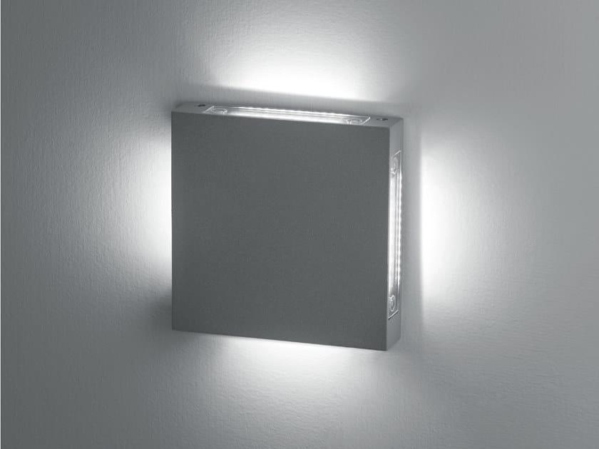 Segnapasso a LED a parete in alluminio STAMP | Segnapasso by Goccia Illuminazione