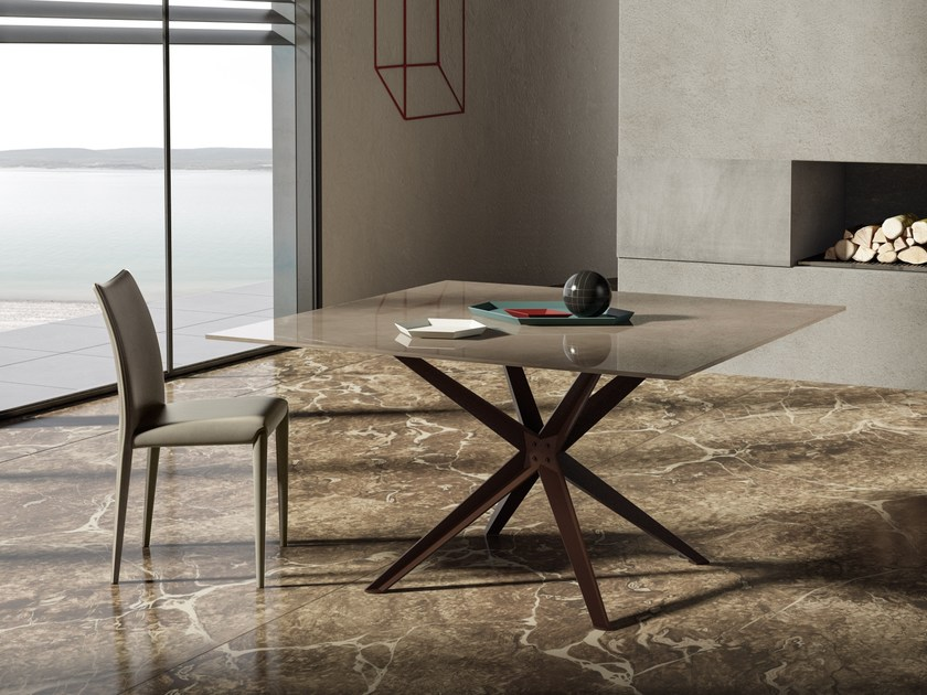 Square Marglas table STERN   Square table by JESSE