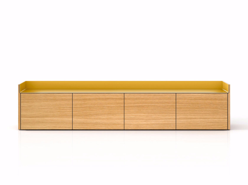 Suspended wooden sideboard with doors STH401 | Sideboard with doors by Punt