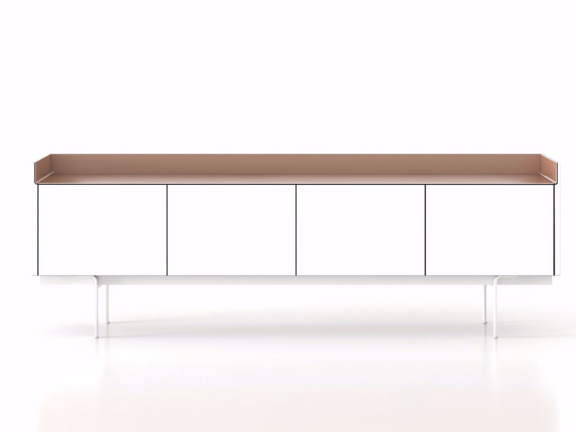 Contemporary style wooden sideboard with doors STH411 | Sideboard with doors by Punt