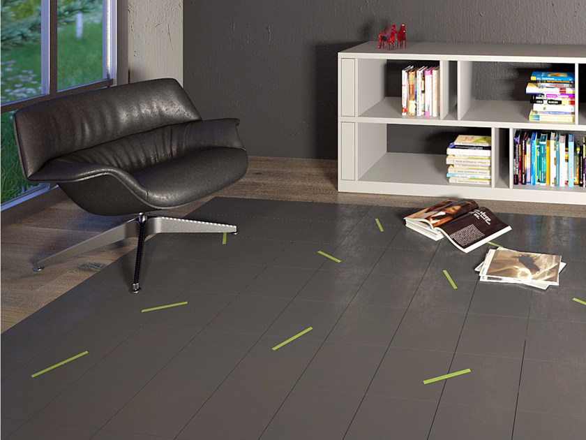 Porcelain stoneware and glass flooring STICK by VETROVIVO