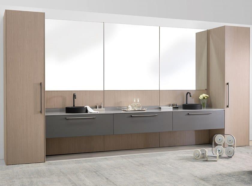 Vanity unit with mirror STILO   Vanity unit by Ornare