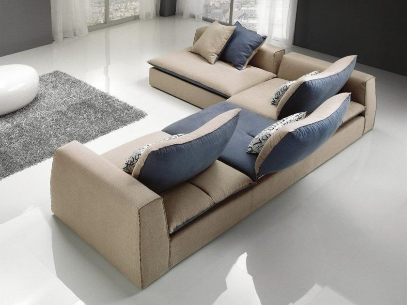 Corner fabric sofa with removable cover STING | Corner sofa by Gobbo Salotti