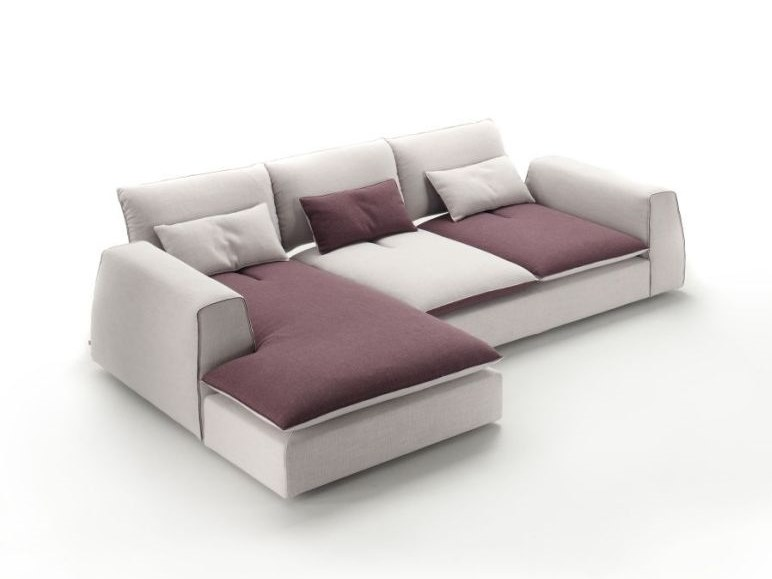 3 seater fabric sofa with removable cover with chaise longue STING | Sofa with chaise longue by Gobbo Salotti