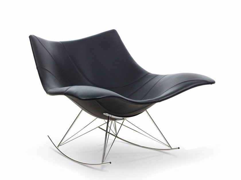 Poltrona a dondolo in pelle STINGRAY | Poltrona by FREDERICIA FURNITURE